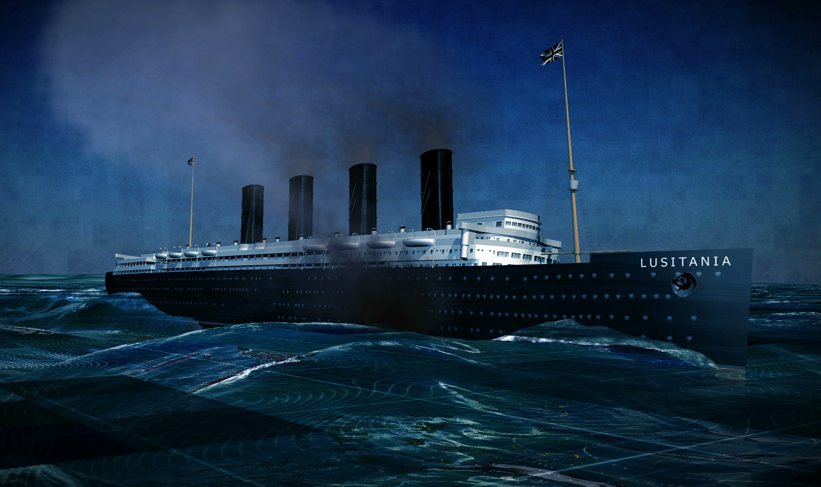 the lusitania The wreck of 'lusitania' from a painting by ken marschal source it's safe to say that when people are asked about the titanic, they can immediately respond and identify the tragic sinking.